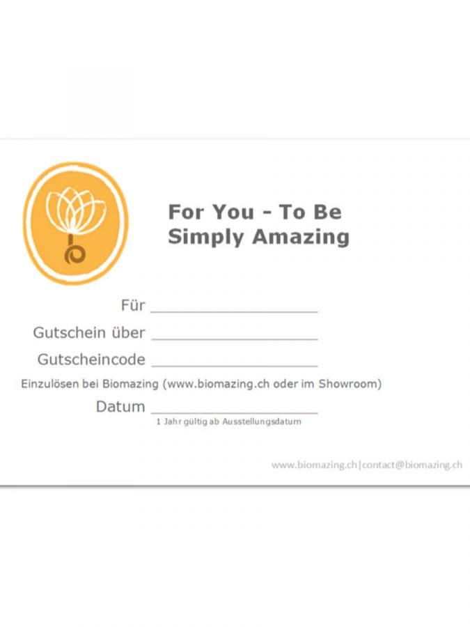 Biomazing Gutschein Be Amazing