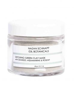 Detoxing Green Clay Mask With Seaweed Aquamarine und Rosehip 60g Nazan Schnapp