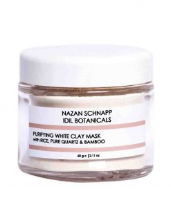 Purifying White Clay Mask With Rice Pure Quartz und Bamboo 60g Nazan Schnapp
