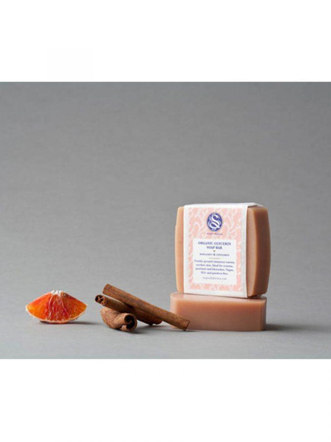 Soapwalla Kitchen Bergamotte und Zimt Seife