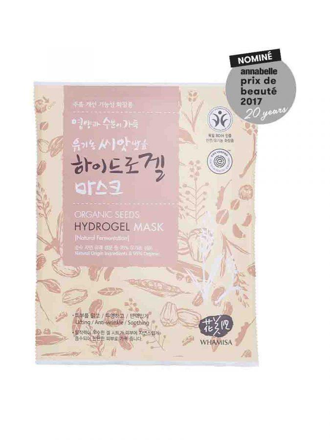 Organic Seeds & Rice Hydrogel Mask Sheet Maske 33g