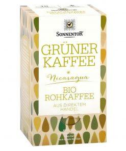 Grüner Kaffee Tee im Beutel