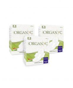 Organyc Binde mit Flügel aus Bio-Baumwolle (10 Stk.)